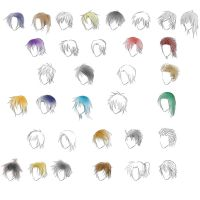 Anime Guy Hair Styles by gleaming4shadows