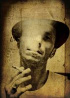 MAN, HAT AND CIGARETTE by cetrobo