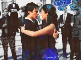 Damon and Elena by GreenSlOw