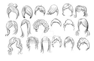 Nike+ minis Avatar Sketches (Hair 2) by piratesofbrooklyn