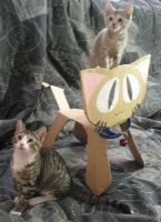 Paper Cat Named Goliath by melllic