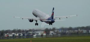 Aeroflot leaving AMS by Mistralcloudy