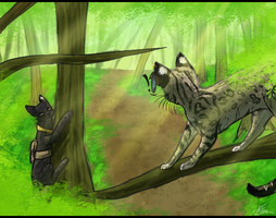 Servals Weren't built to Climb by KylieKattu