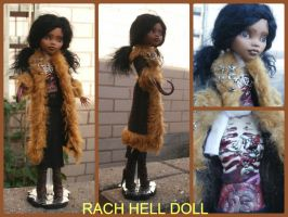 monster high custom daughter of the candyman mh by Rach-Hells-Dollhaus