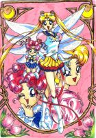 Chibi chibi Sailor moon by LadySethRamons