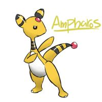 Ampharos by catsrusme