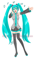 Hatsune Miku MS Paint by yesi-chan
