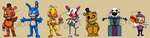 Stickers: Five Nights at Freddy's Set 2 by forte-girl7