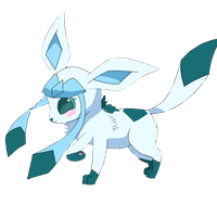 Chibi Glaceon by twerkingkitty