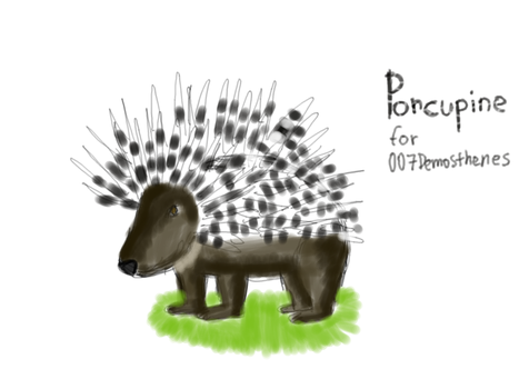 Porcupine for 007Demosthenes by Foxeretta