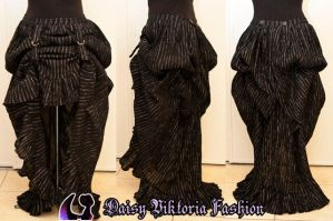 Black and Silver Bustle Commission by DaisyViktoria