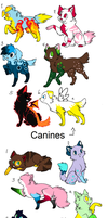 Canine and Feline Adopts (3 Points!) by Firestar999