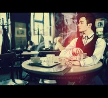 Klaine: Coffee-kiss by Segda