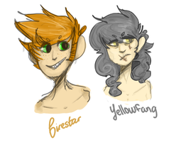 Human warrior cats by Dolorr