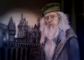 Dumbledore painting by NadineSabbagh