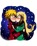 NeilXRachel: Winter Kiss ~ by TeLinkfan1