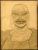 my The Creature From the Black Lagoon by DracoDarkblade