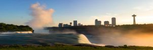 Dual Screen Wallpaper of Niagara Falls by gperkins10