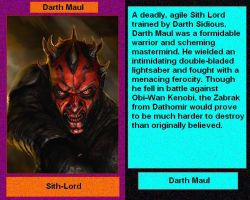 Files of Evil: Darth Maul by DarthVaderXSnips