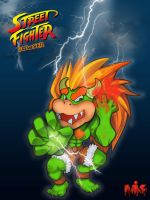Street Fighter Bowser by MightyMusc