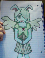 Human Flying Mint Bunny by paipai13
