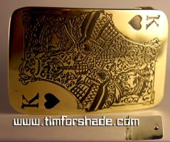 King of Hearts game card brass belt buckle by TimforShade