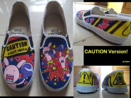 Caution Version shoes by rei-lwy