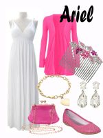 Disney Fashion: Ariel (Pink Dress) by EvilMay
