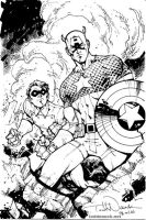 Captain America and Bucky by ToddNauck