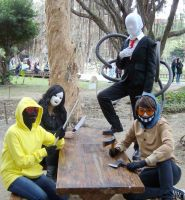 CWT38 comic con-Creepypasta cosplay by DeluCat