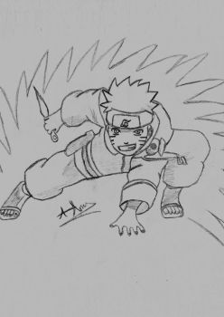 Naruto Pencil Sketch by Pixetomics