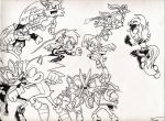 TEAM SONIC vs TEAM SCOURGE by gagex07