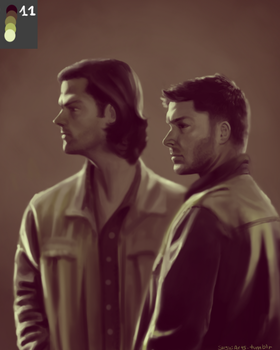 Sam and Dean in #11 by Sushi-Arts