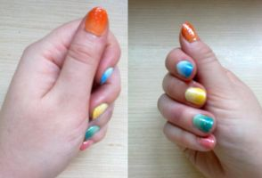 31 day Challenge: Day 10 Gradient Nails by riorval