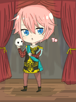 :AT: Kazune as Hamlet (NNK) by Hourglass34
