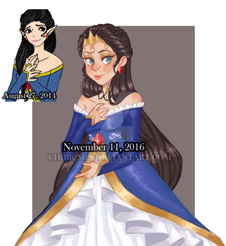 Oc princess 2014/2016 redraw by Chibicmps