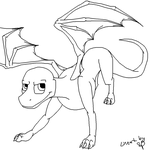 Male Dragon Lineart or Ref sht by Urnam-BOT