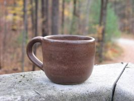 Little Brown Mug by Potterycat