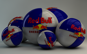Red Bull Energy Logo Balls by Dracu-Teufel666