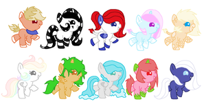 MLP Baby Pony Adoptables CLOSED by Black-Rose-Emy