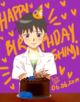 NGE + Happy Birthday Shinji Animation by BakaMandy