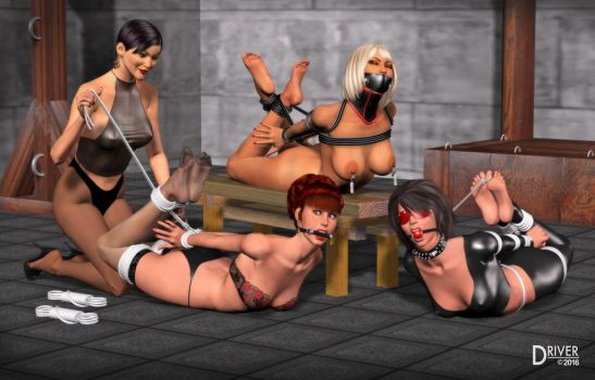 DA Ladies Dungeon - Triple Hogtie by Driver651