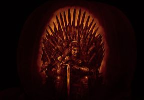 Game of Thrones pumpkin 2011 by qw3323