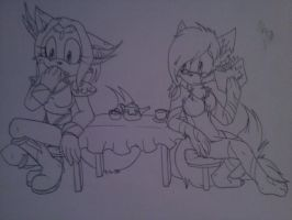 Tea party :request for ColorDrake: by Mysterythefox