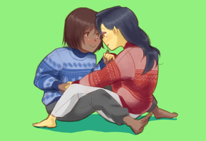 Korrasami Christmas by Shinycake