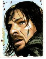 Boromir Sketch Card Commission by ryanorosco
