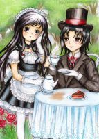 C: Maid Yuki and Master Itachi by SilverChaim