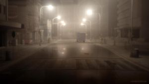 Foggy Street by JoePingleton