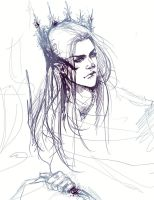 Thranduil sketch by Rociell