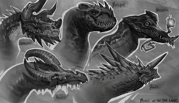 Beasts of the far lands by wendallhitherd